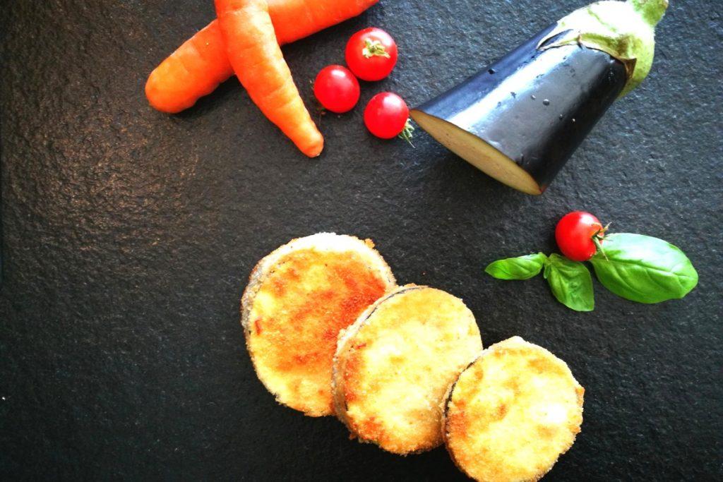 Melanzani gebacken, paniert, Auberginen, Abendessen, Mittagessen, was koche ich heute