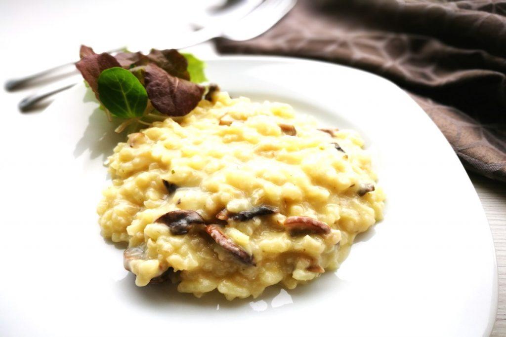 Risotto, Champignons, weihnachtlich, Weihnachten, vegetarisch, vegan, vegetarisch kochen, Mittagessen, was koche ich heute, Zucchini, Maroni