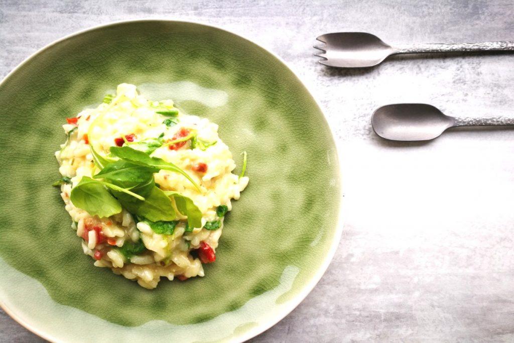Risotto mit Rucola und getrockneten Tomaten