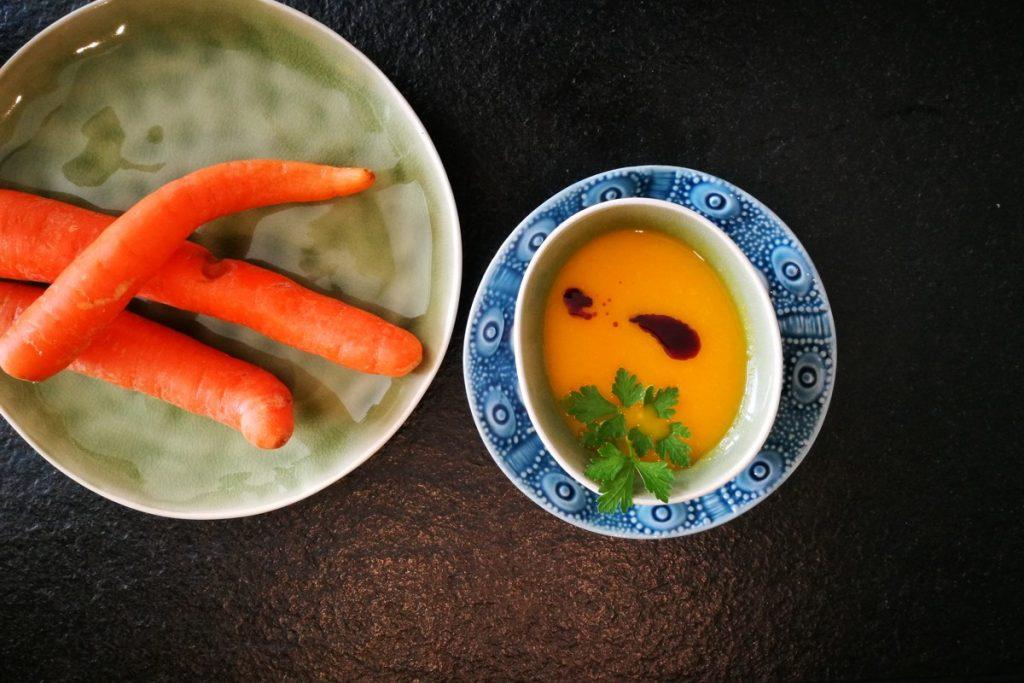 vegetarisch kochen, Karottensuppe, Suppe, vegan, vegetarisch-kochen, Vorspeise,